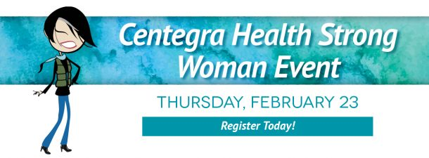 Dr. Farrugia speaking at the Centegra Health Strong Woman Event